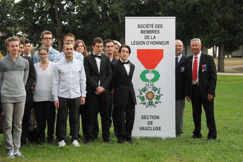 lauréats du pole formation au prix de la légion d'honneur