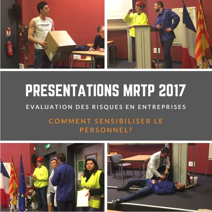 presentation sensibilisation aux risques en entreprise par les licences MRTP 2017